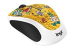 910-005056 - Logitech M238 Wireless Mouse - GoGo Gold Doodle - Mus - Optisk - 3 knapper - Hvid