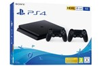 0711719887362 - Sony PlayStation 4 Slim Black - 1TB (2 x Dualshock)