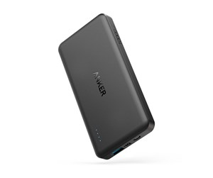 A1261H11 - Anker PowerCore ll Slim 10000 PowerIQ Powerbank - Sort - 10000 mAh