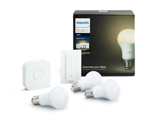 929001137061 - Philips Hue White 3xE27 Pærer + Switch Starter Kit