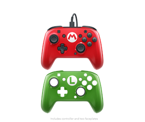 708056061999 - PDP Switch Super Mario Faceoff Deluxe Wired Pro Controller - Gamepad - Nintendo Switch