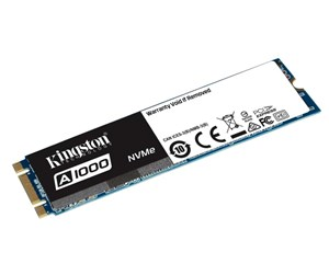 SA1000M8/480G - Kingston A1000 M.2 NVMe SSD - 480GB SSD - 480 GB - M.2 2280 (80mm) - PCI Express 3.0 x2 (NVMe)