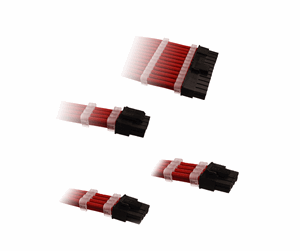 DSC-PCE30CMRED - DUTZO Sleeved Power Extension Cable Kit - Red