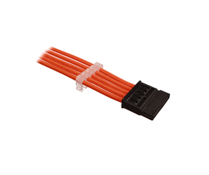 DSC-SATAPOWSL03ORN - DUTZO Sleeved SATA Power Extension cable - Orange