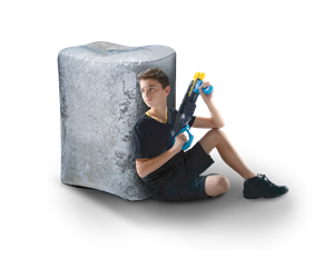 BKR-3213 - Bunkr Battlezone inflatable Concrete Block