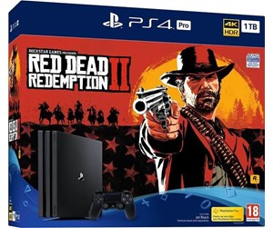 0711719761310 - Sony Playstation 4 Pro - 1 TB CUH 7200 series (Red Dead Redemption 2 Bundle)