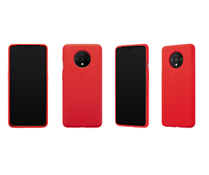 5431100112 - OnePlus 7T - Silicone Bumper Case - Red